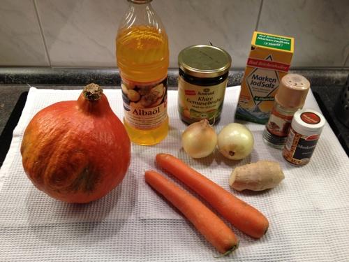 Kürbissuppe glutenfrei laktisefrei milchfrei eifrei